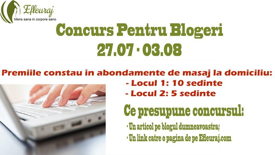 Concurs pentru bloggeri