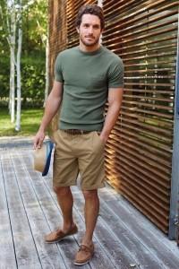 pantaloni scurti de barbati tinuta kaki