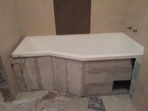 montarea cazii de baie