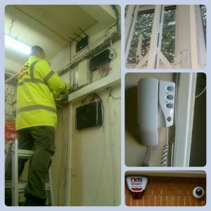 montarea aparaturii de securizare la locul de munca